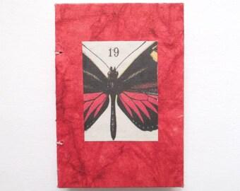 Handmade Sketchbook, altered book, mini books, blank journal, butterfly book, 19