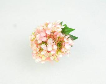 Headpiece Fascinator Hair Clip Pink Silk Flowers Dome with Cora Veil Spring Summer Floral Headwear Wedding Bridal Flower Crown