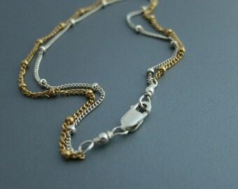 Layered Bracelet Mixed Metals Bracelet