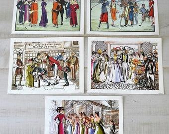 5 vintage Anthony Gruerio Litho Prints / art / vintage art / Anthony Gruerio artist / instant collection lithograph prints