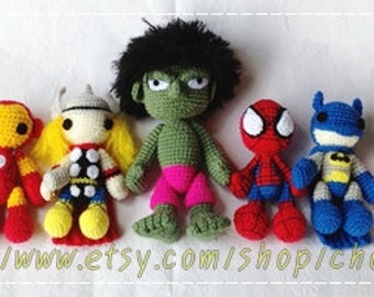 Super Heros Set - PDF amigurumi crochet pattern