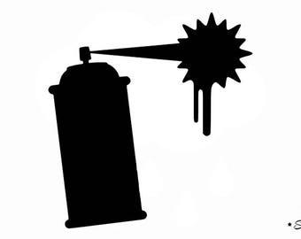 bomb spray painting street art graffiti Thermo flex pattern
