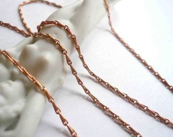 Rose gold chain Blank chain Empty chain Without pendant Chain only Long necklace Short necklace chain Plain chain Barley chain Pink gold