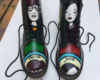 By request -Custom boots made to order - example of previous project shown in listing - Doc Marten DM boots - Daria design