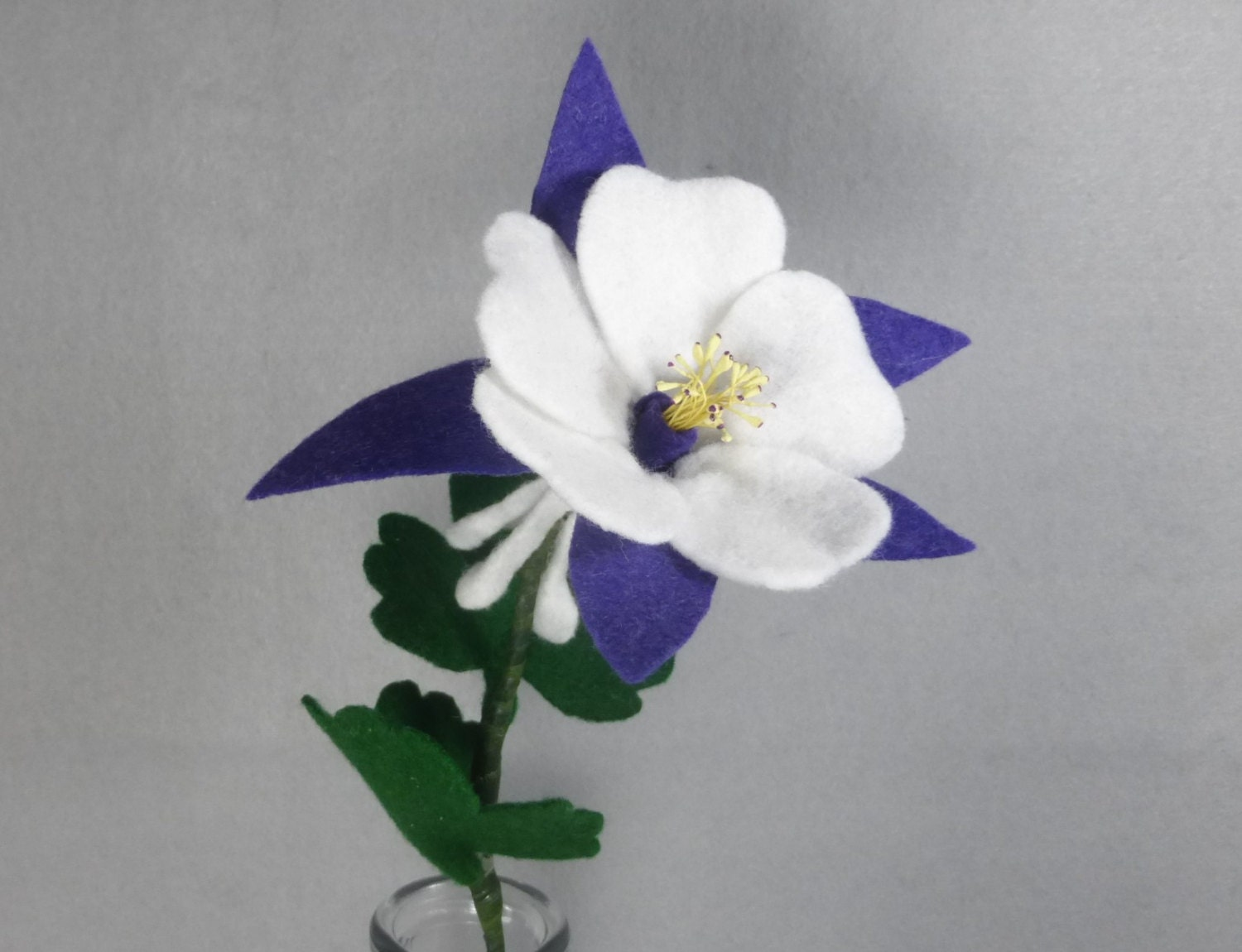 Purple felt columbine made to order artificial flower felt zoom izmirmasajfo