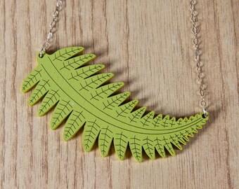Feathery Fern Leaf Necklace