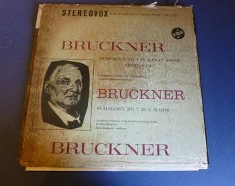 On Sale Vintage Bruckner Symphony 4&7 Vinyl Record SVBX 5117 Very Rare 1961