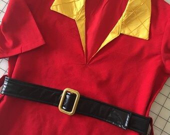 Gaston Costume Tunic and Belt   4T to Size 12 in Childrens