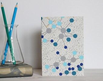 Chemistry molecule card - science card, graduation card, science print, chemistry print, science teacher, thank you teacher, nerd card