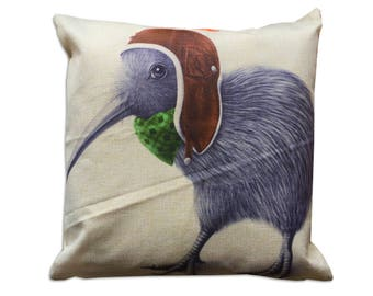 Canvas pillow. Decorative pillow. Printent pillow. Deer cushion. Printed pillow cover. Accent throw pillow. Nature pillow. bird pillow