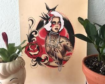 Love Bird Blonde, Tattooed Lady