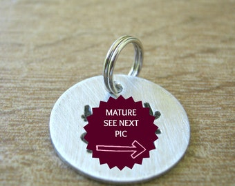 MATURE Anal Slut Tag, Anal Collar Tag, Customize with your wording, DDLG collar tag, Anal Slut charm, I love Anal, BDSM charm, bdsm slut