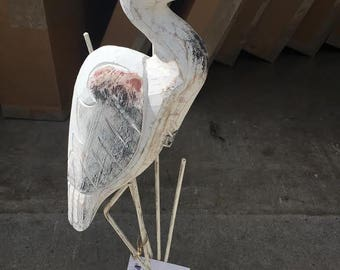 Heron Hand Carved Wood - C213