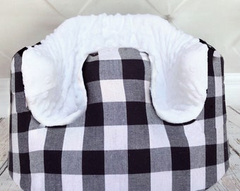 B&W Buffalo Plaid Bumbo Cover