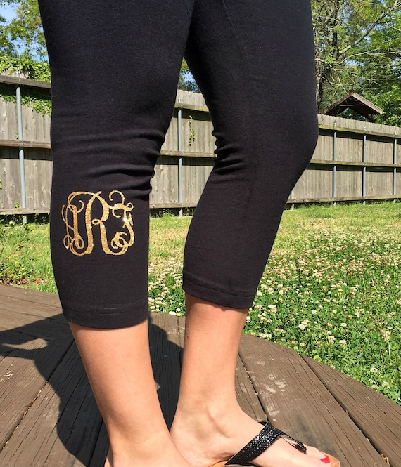 Monogrammed Workout Capri
