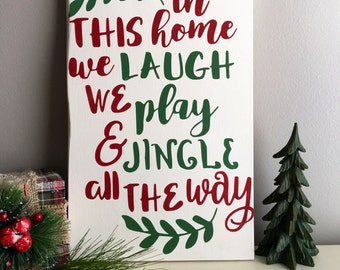 Family Rules Sign - House Rules Sign - Christmas Sign - Holiday Decor - Christmas Family Rules Sign - Family Christmas Sign - Christmas Gift