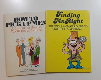 1980s How to Pick Up Men and Finding Mr. Right coloring books