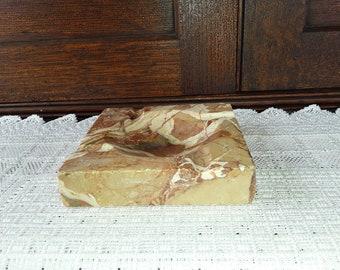 Brown Marble 4 Sloted Ashtray