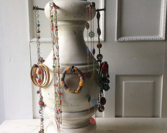 Large Necklace & Bracelet Display Stand - Architectural Salvage Jewelry Display - Retail Boutique Display - Jewelry Organizer Qty Available