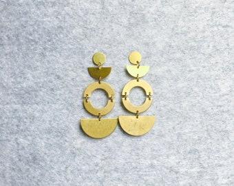 Brass Stud Earrings #22