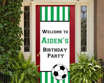 "12""x32"" Soccer Theme Party Vertical Banner 