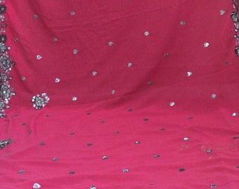 ANTIQUE OLD SAREE Vintage Notion Fabric Women Indian Clothing Use For Crafting Home Decor Fabric.