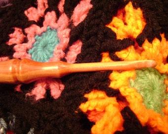 Hand Turned Wooden Crochet Hook - Custom Size