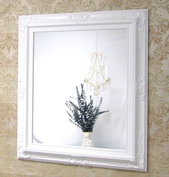 white vanity mirror for sale baroque framed white framed baroque mirror french country home decor 31x27 white bathroom mirror - White Framed Mirror