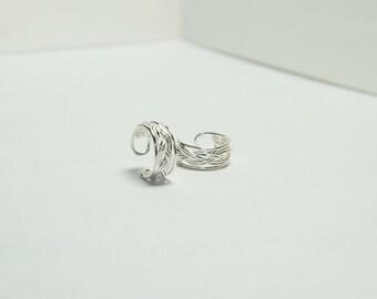 French Braid Ear Cuffs , french braid ear cuffs , Sterling silver ear cuffs , boho jewelry ear cuffs , no pierce earrings
