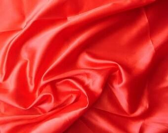 Red Satin Fabric - 1 Yard