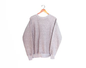 vintage sweatshirt / raglan sweatshirt / grey sweatshirt / 1980s heather grey raglan sweatshirt Large