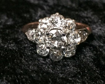 Circa 1900 diamond Daisy ring