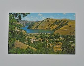 60s Postcard Washington state unused tourist travel souvenir landscape midcentury Conconully Lake WA scenery 70s photograph