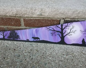 Hand Painted Wolf Saw Blade
