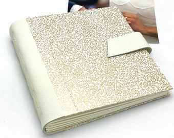 Ivory Wedding Scrapbook Album - 8x8 inch - Optional Title Page