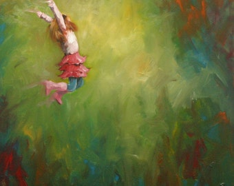 leap19 20x20inch Print of oil painting by Roz