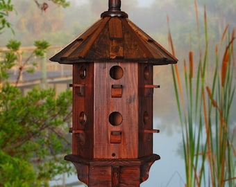 Wooden Bird House for Sale, Purple Martin Birdhouses, Homemade Purple Martin Box, Rustic Bird Houses
