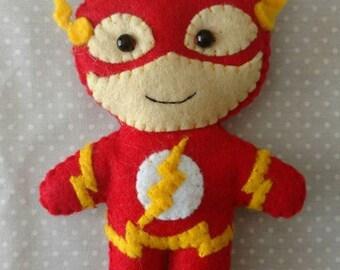The Flash cute felt keychain