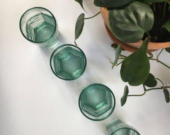 Teal Juice Glass Set