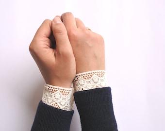 Cuff removable guipure
