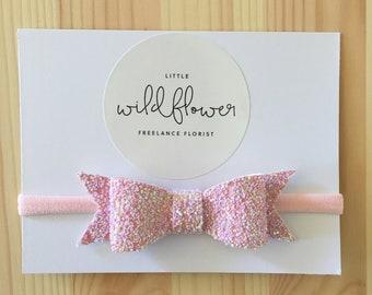 Tutu Shimmer Glitter Band Bow