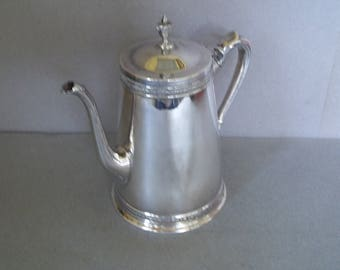 Vintage Silver Coffee Pot - Art Deco Style Silver Coffee Pot - Silver Espresso Coffee Pot