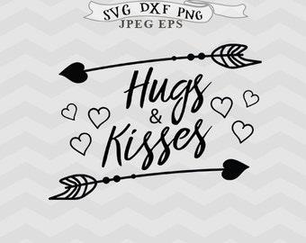Hugs and kisses svg wedding svg Bride tribe svg bride svg Summer svg Dxf files Cricut downloads Cricut files Eps files Silhouette files