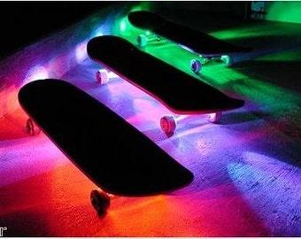 Skateboard Battery Powered LED Waterproof Light Strip Kit w/ Remote Control - Longboard