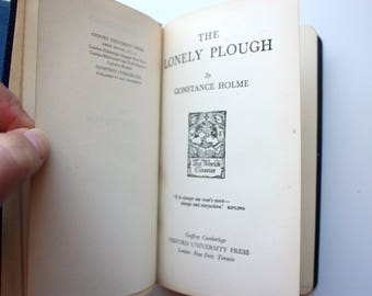 The Lonely Plough by Constance Holme - World's Classics with Book Sleeve