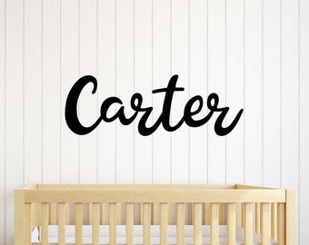 Laser Cut Wood Name Sign Baby - Nursery Name Wood Cutout - Font 12