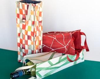 Reusable fabric wine gift bag