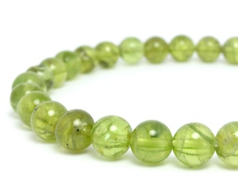 7mm Peridot Stretch Bracelet