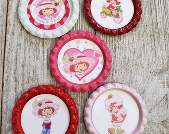 Strawberry Shortcake inspired magnet set