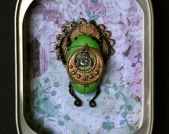 Green Ohm Queen Scarab
